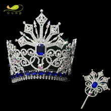 Wholesale Beauty Pageant Crown with Scepter Custom Tiara