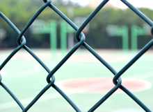 Inside Galvanized wire/PVC coated chain link fence for sport fields