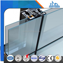 6063 t5 aluminum alloy curtain wall profile for buildings