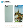 Hot Sale 3D Sublimation Film Phone Cover Case for iPhone5C, DIY Phone Case Cover