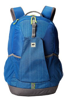 Blue student leisure laptop backpack school bag
