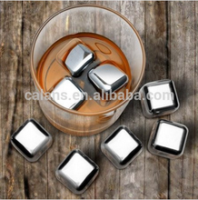 Party Club Bar Accessories Stainless Steel Whisky Stone Ice Cube 2.6*2.6cm