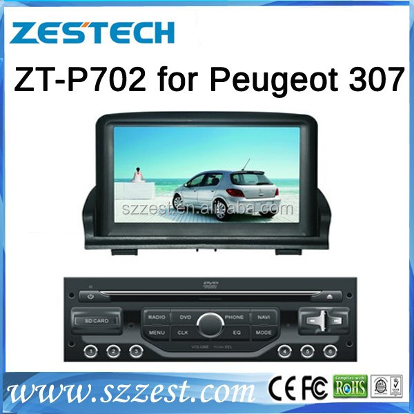 For Peugeot 307 separate car radio auto radio best selling car accessories with Radio/3G/Bluetooth/ SWC/Visual-10 disc
