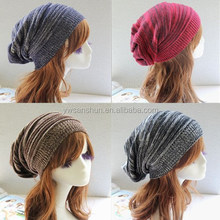 Wool Knitted Fashion Cap Double-color Mixed Warm Hat beanie