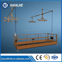 Factory types of scaffolding system zlp630/ 800 suspended access cradles
