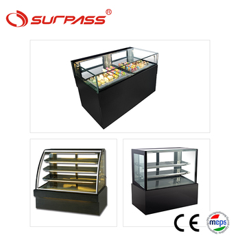 Commerical counter top cake display fridge cabinet for dessert shop