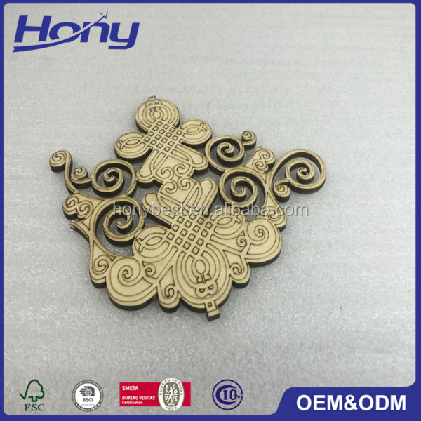 Homemade Laser Cut Wholesale Art Minds Wood Crafts Chinese Knot