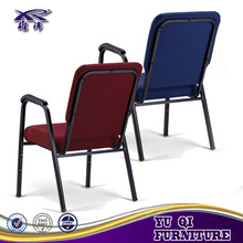 Stackable Cheap Church Chairs with armrest Chinese Supplier in shunde
