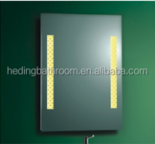 Hot sale Aluminum Framed Press Switch Led Light Bathroom Silver Mirror Passed IP44