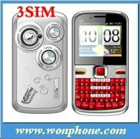 New 3 Sim card TV Mobile Phone Q5 Quanband Big speaker