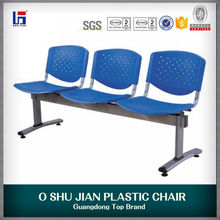 cheap Hospital Used 3-seater Plastic Waiting Chairs