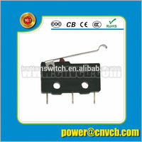 KW11-E CE approval non handle 50000 life bent medium lever micro sliding switch