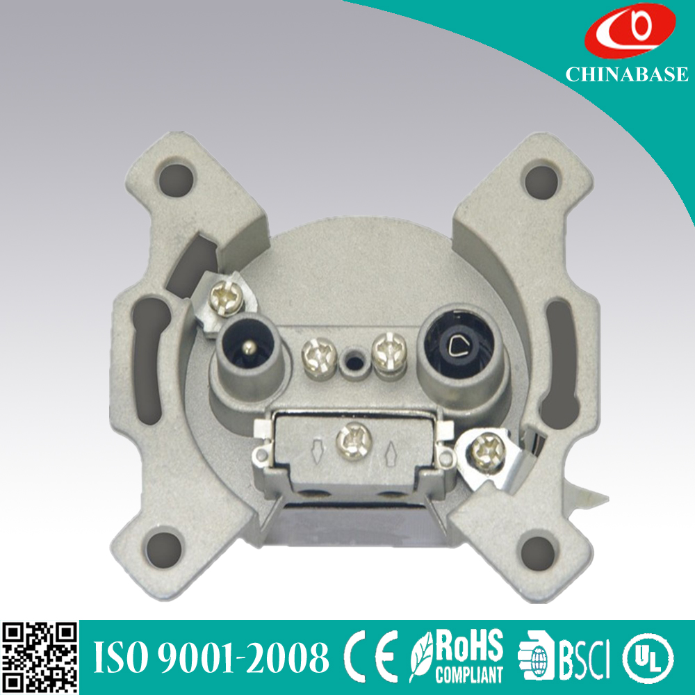 Hot new design high quality Satellite and TV socket