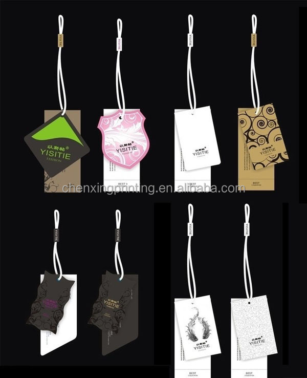 New Design Die Cut Paper Gift Tags Hang Tags Favor Tags Garment