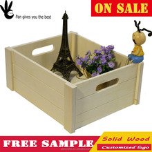 Pan desktop solid wood blanket tea decorative Wooden storage box