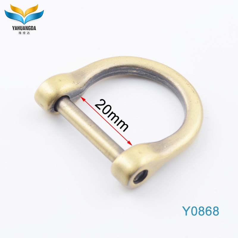 factory wholesale fashion design bag hardware fitting metal D ring for handbags/clothes