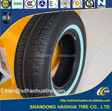 white sidewall coloured car tyres sale hot new product