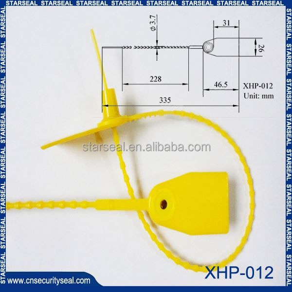 XHP-012 plastic security seals for envelopes