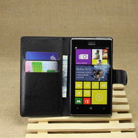 PU Leather flip wallet case cover for Nokia Lumia 925