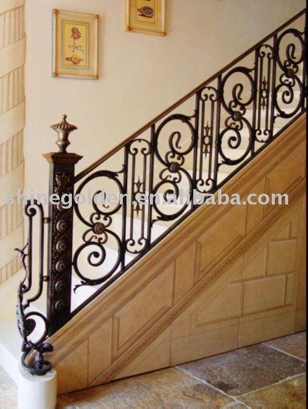 decorativo recta interior de casa de hierro forjado barandillas interiores buy product on alibabacom with barandas para escaleras de interior
