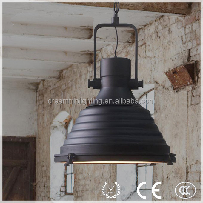 Antique maritime lamp black RH LOFT iron vintage countryside pendant lights for bar/ inn/ cafe from zhongshan <strong>lighting</strong> factory
