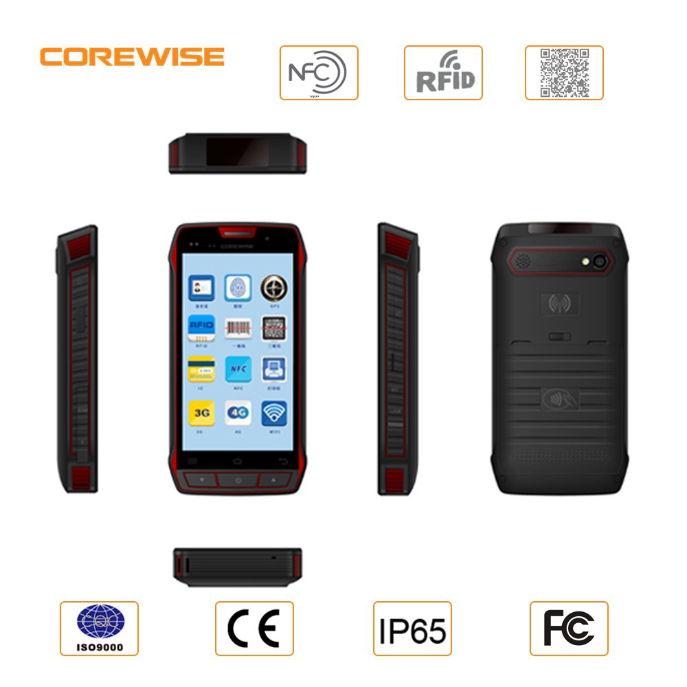 4G LTE Network Industrial 5 inch rugged android pda barcode laser scanner