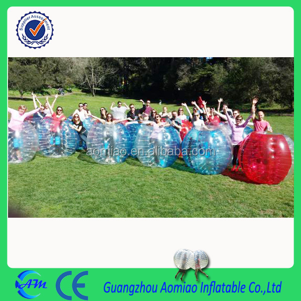 One set 1.5/1.8m diameter body zorb ball inflatable soccer bubble for adults