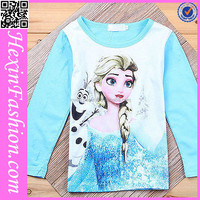 Spandex/Polyester/Cotton Material Birthday Gifts For Girl Child T-Shirt