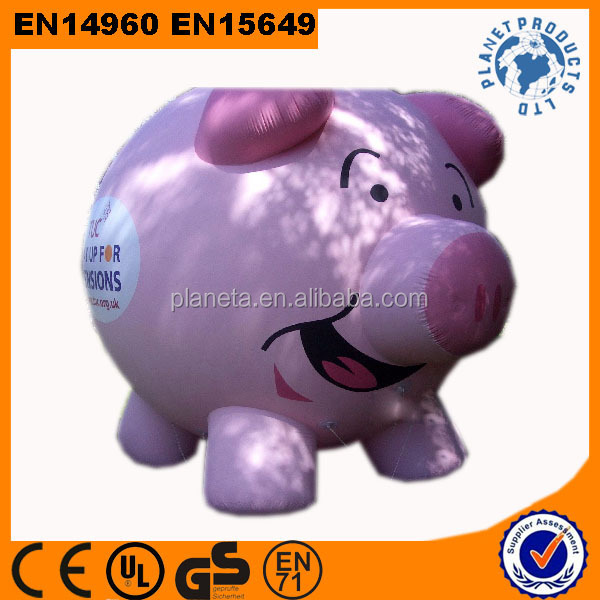 Hot Sale Giant Pink Advertising Inflatable Pig Balloons
