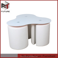 frosted top glass coffee table wood with stools