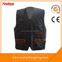 Nice design canvas black mesh safety vest with pockets