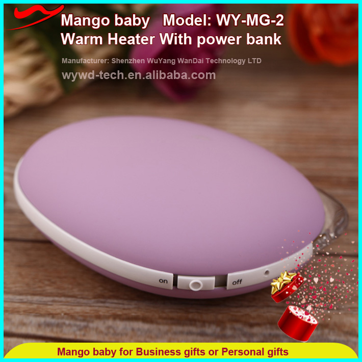 3500mah powerbank hand warmer / promotional rechargeable mini gadget new ideas 2017