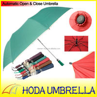 Two fold air giant solid fabric red blue and black lotus leaf green auto dome golf umbrella with white edge