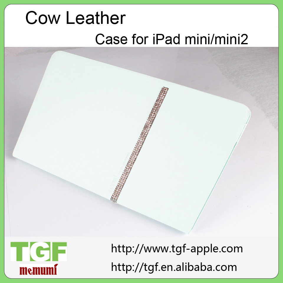 wholesale Leather cover Rhinestone case for Apple iPad Mini/MINI2