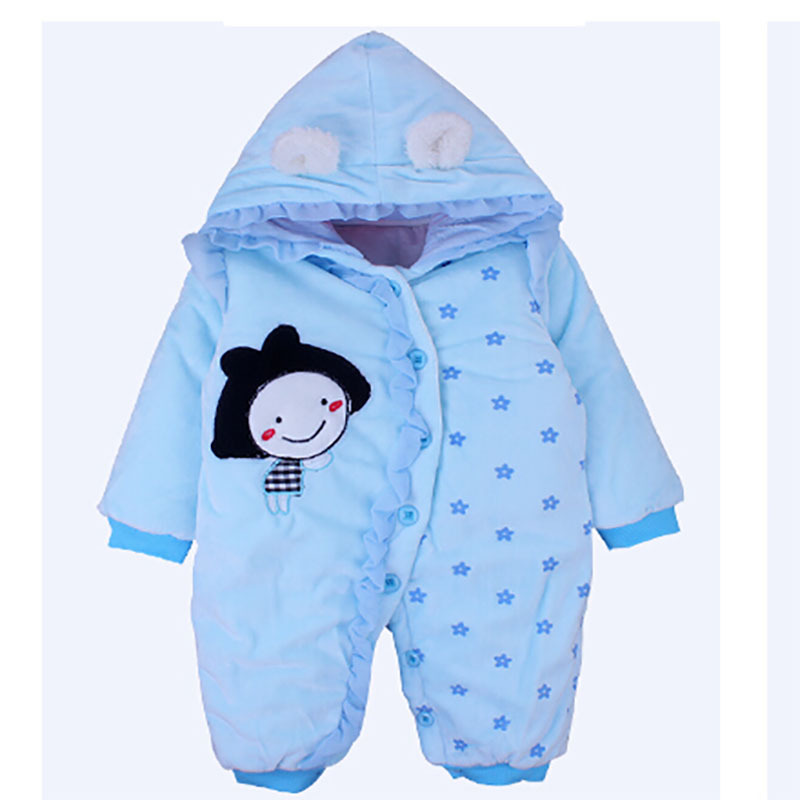 2015 Warm cold fall and winter baby cotton velvet trousers Coveralls baby snowsuit newborn snowsuit baby snow coats Coral Velvet
