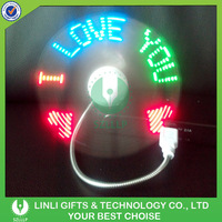 Promotional LED Message Fan, Desk Fan, Mini USB Fan For PC or Phone