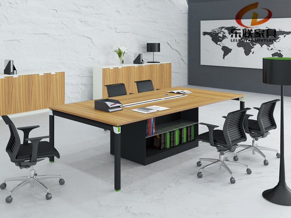 office furniture aluminium leg metal frame conference table KD-15