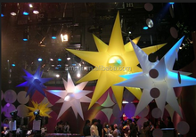 cheap advertising inflatable led pointy star/led twinkle light star foa sale
