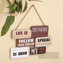 Wholesale Vintage Retroart Minds Wood Painting Plaque Wood Sign For Coffee Bar Decoration