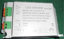 51W/350ma triac dimmable constant current led driver,AC110V/220V input,can driver 30-34pcs 1W high power led