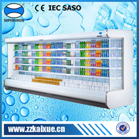 Supermarket fruit refrigerator with remote compressor
