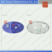 OEM LED& metal dome water proof membrane switch with plastic bezel for Toilet equipement