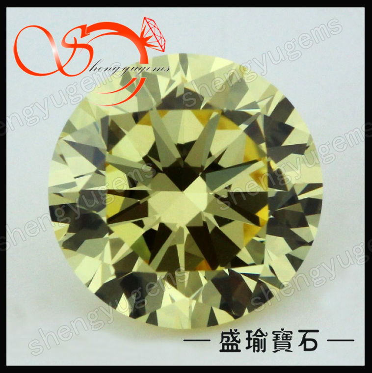 light golden yellow cz