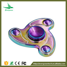 Evergreentech Tri Rainbow Fidget Spinner Anti-stress Gyro Colorful Spinning Top Educational Toys for Children and Adults