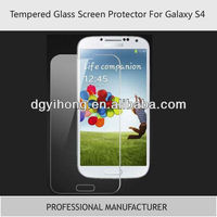 2013 New Tempered Glass Screen Protector Shield For Samsung Galaxy S4