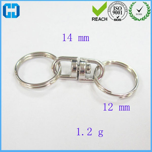 Wholesale Double Split Key Ring Keychain Connector