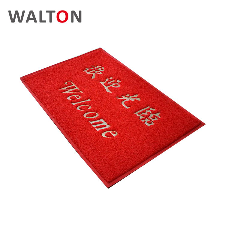 Dustproof wholesale pvc coil personalised welcome mat outdoor