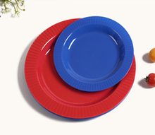 FDA Promotional Multicolor Plastic Round Food Plate