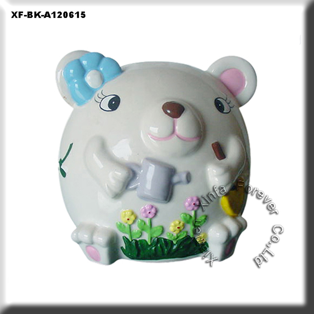 unique paint your own bisques bear piggy money bank