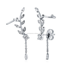2017 Unique Design Branch Earrings Sterling 925 Silver Jewelry With Zircon